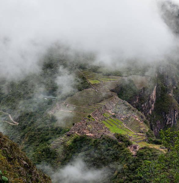Photograph - Machu Picchu In Clouds by U Schade