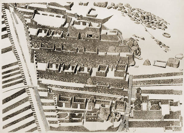 Photograph - Machu Picchu: Plan by Granger
