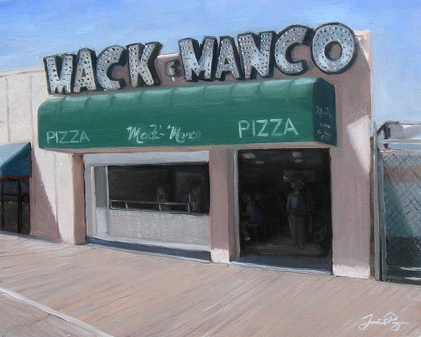 Cape May Painting - Mack And Manco by Jamie Pogue