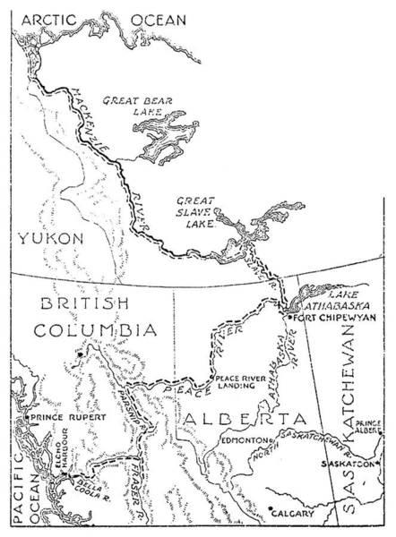 Wall Art - Drawing - Mackenzie Map by Granger