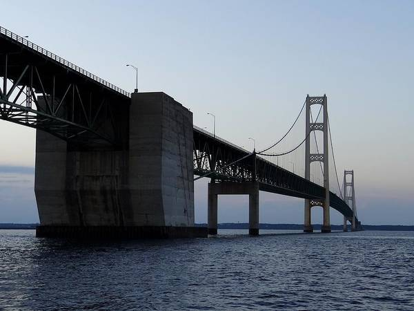 Photograph - Mackinac Bridge Anchorage by Keith Stokes
