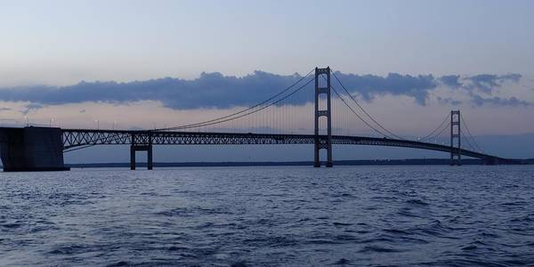 Photograph - Mackinac Bridge At Eventide by Keith Stokes