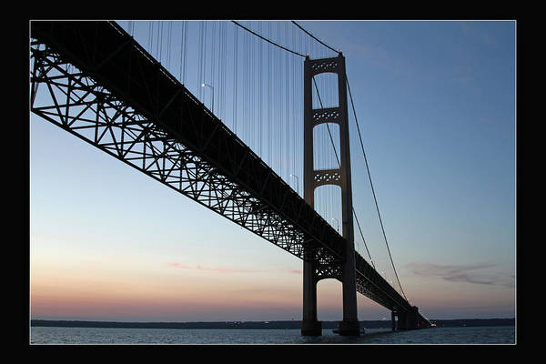 Mackinac Bridge At Sunset Art Print