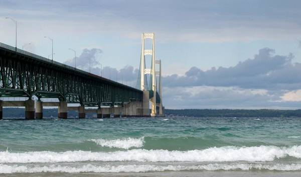 Photograph - Mackinac Bridge The Mighty Mac by Keith Stokes