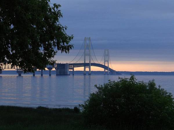 Photograph - Mackinac Bridge Twilight by Keith Stokes