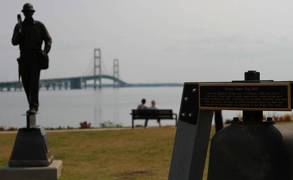 Michilimackinac Wall Art - Photograph - Mackinac Bridge View by Dan Sproul