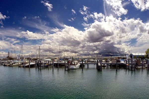 Mackinaw City Marina Art Print