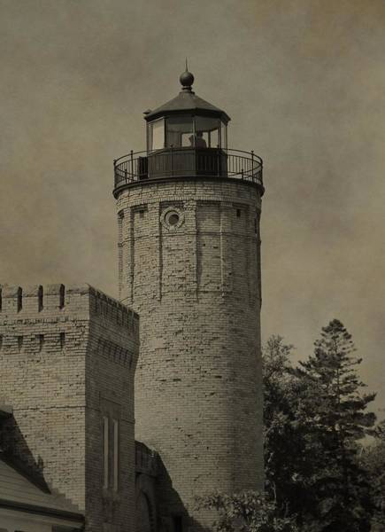 Michilimackinac Wall Art - Photograph - Mackinaw City Lighthouse by Dan Sproul