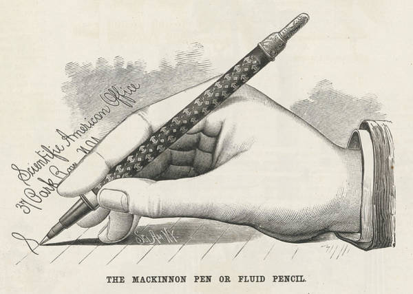 Wall Art - Drawing - Mackinnon's 'fluid Pencil' Is  An Early by Mary Evans Picture Library