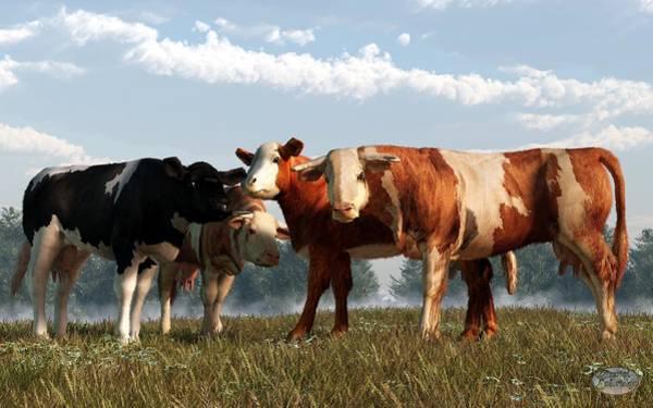 Digital Art - Mad Cows by Daniel Eskridge