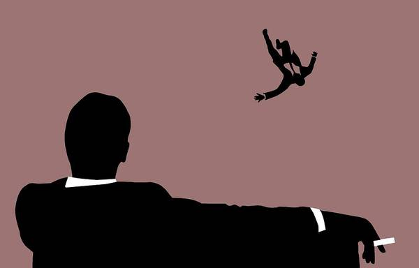 Moss Digital Art - Mad Men Falling by Dan Sproul