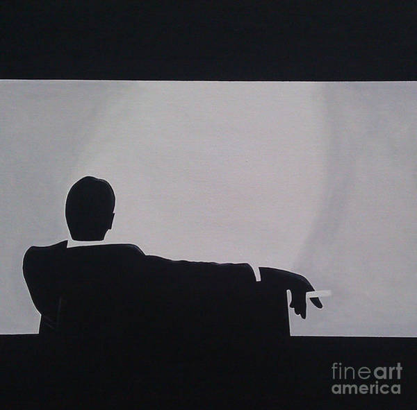 Men Painting - Mad Men In Silhouette by John Lyes