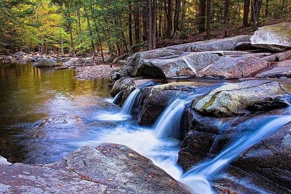 Photograph - Mad River Falls Farmington Nh by Jeff Sinon