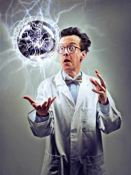 Orb Photograph - Mad Scientist by Coneyl Jay/science Photo Library