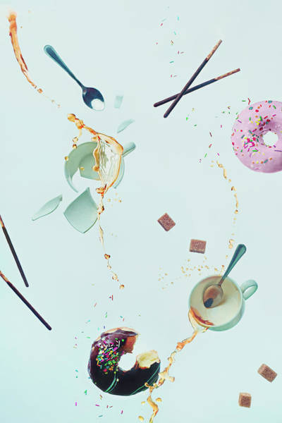Sliver Photograph - Mad Tea Party by Dina Belenko Photography