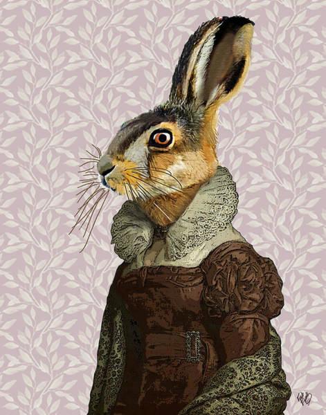 Haring Digital Art - Madam Hare by Kelly McLaughlan