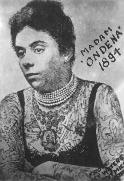 Upper Body Painting - Madam Ondena 1894 Flash Art by Larry Mora