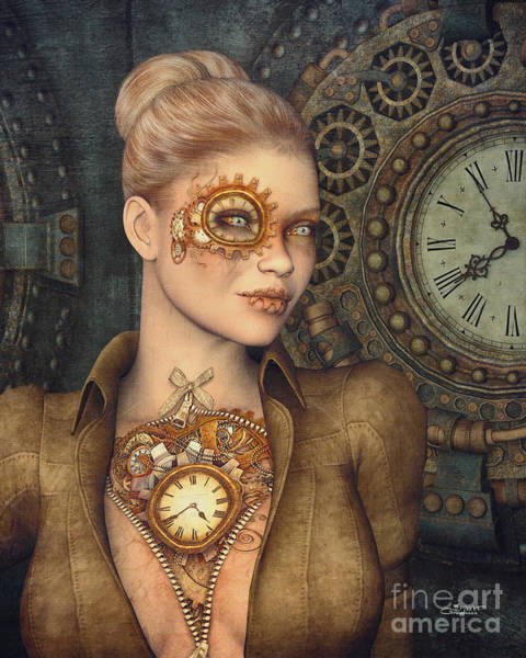 Digital Art - Madame Clockwork by Jutta Maria Pusl