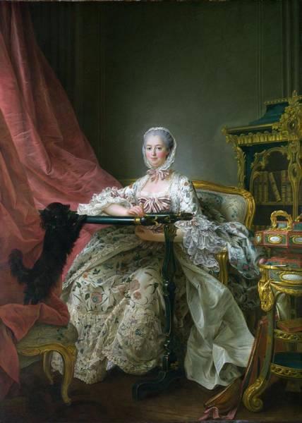 Mistress Photograph - Madame De Pompadour, 1763-64 Oil On Canvas by Francois-Hubert Drouais