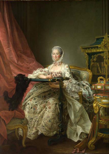 Painting - Madame De Pompadour At Her Tambour Frame by Francois-Hubert Drouais