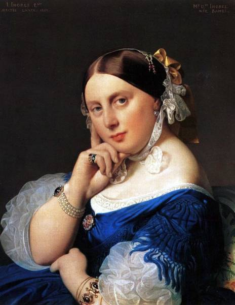 Winterthur Wall Art - Painting - Madame Delphine Ingres by Jean-Auguste-Dominique Ingres