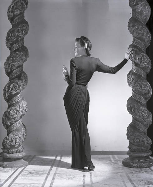 1941 Photograph - Madame Estrella Boissevain In A Draped Jersey by Horst P. Horst