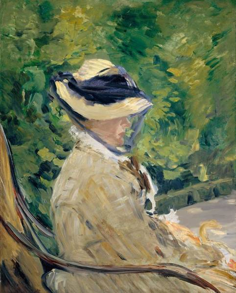 Wall Art - Painting - Madame Manet At Bellevue by Edouard Manet