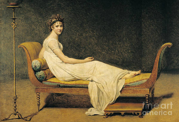 Woman Painting - Madame Recamier by Jacques Louis David