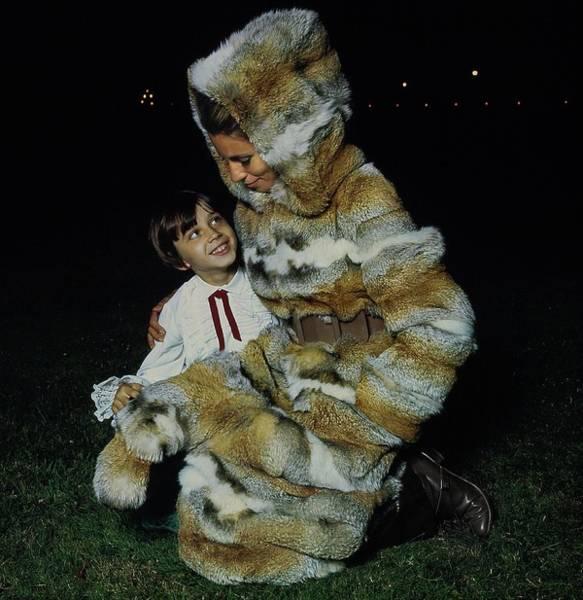 Kamchatka Photograph - Madame Xavier Givaudan Wearing Fox Fur by Arnaud de Rosnay
