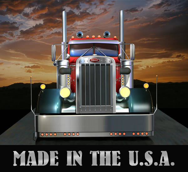 Wall Art - Digital Art - Made In The U.s.a. Custom Peterbilt by Stuart Swartz