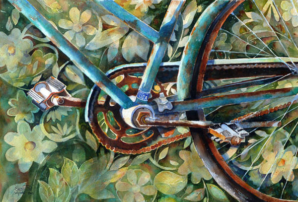 Bicycle Painting - Made In The Usa by Suzy Pal Powell