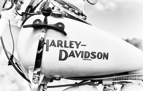 Harley Davidson Black And White Wall Art - Photograph - Made In The Usa by Tim Gainey