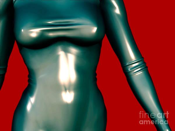 Mademoiselle Digital Art - 2 -mademoiselle Contenu Les Bleu by Luc Van de Steeg