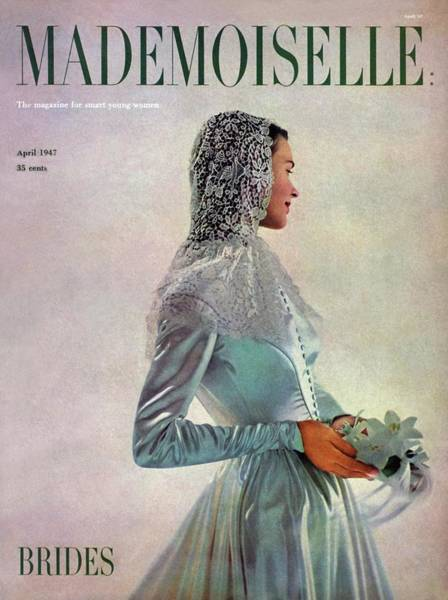 Wedding Photograph - Mademoiselle Cover Featuring A Bride by Gene Fenn