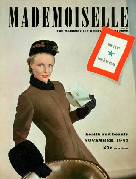 1942 Photograph - Mademoiselle Cover Featuring A Model As A War by Robert Weitzen
