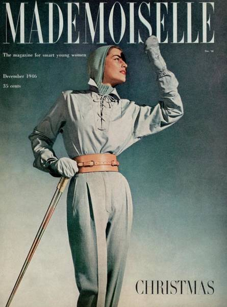 Mademoiselle Photograph - Mademoiselle Cover Featuring A Model In A Ski by Gene Fenn