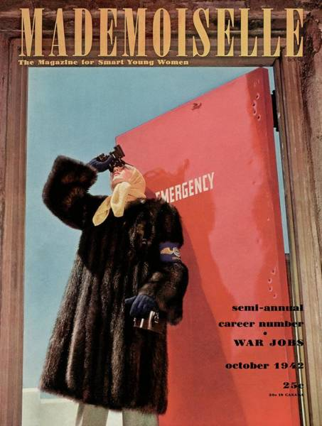 1942 Photograph - Mademoiselle Cover Featuring A Model by Luis Lemus