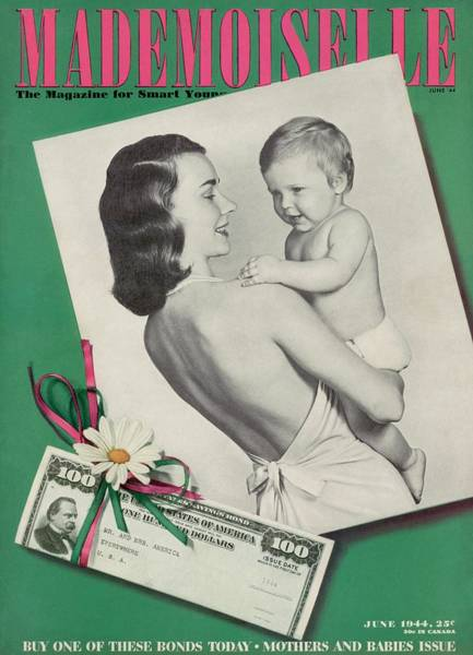 Hobbies Photograph - Mademoiselle Cover Featuring A Mother Holding by Fernand Fonssagrives