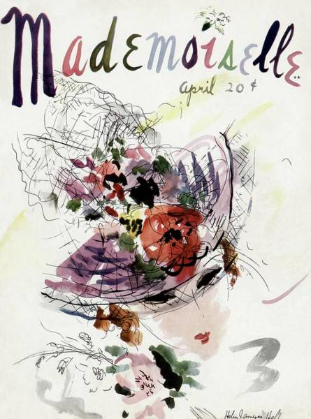 Plant Photograph - Mademoiselle Cover Featuring An Illustration by Helen Jameson Hall