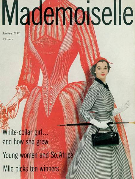 January 1st Photograph - Mademoiselle Cover Featuring Nan Rees by Stephen Colhoun