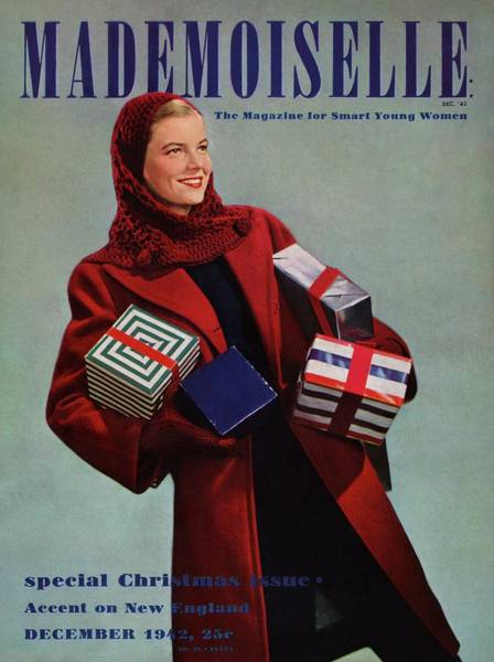 1942 Photograph - Mademoiselle Cover Featuring Peggy Lloyd by Paul D'Ome