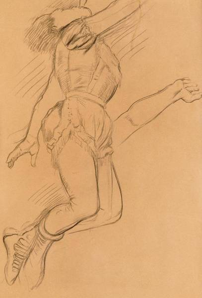 Crayon Drawing - Mademoiselle La La At The Circus Fernando by Edgar Degas