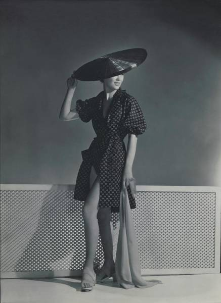 Mademoiselle Lind Wearing A Heim Dress Art Print
