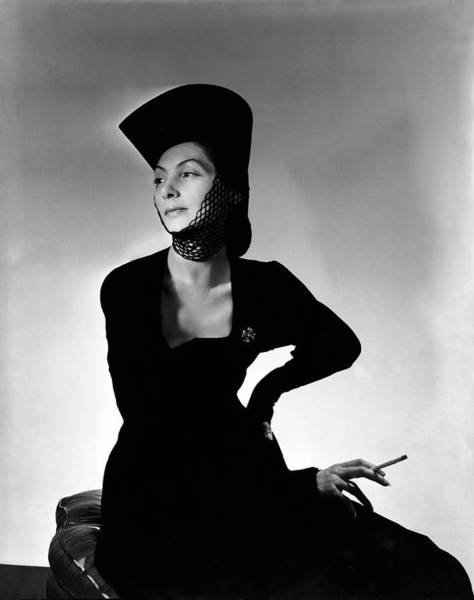 Designer Clothing Photograph - Mademoiselle Valentina Wearing A Crusader's Hat by Horst P. Horst