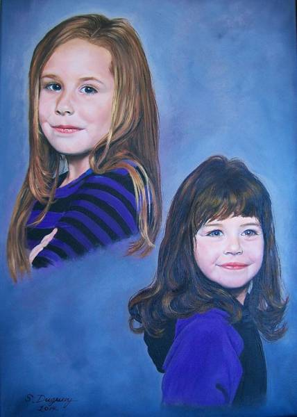 Painting - Madison And Cameron  by Sharon Duguay