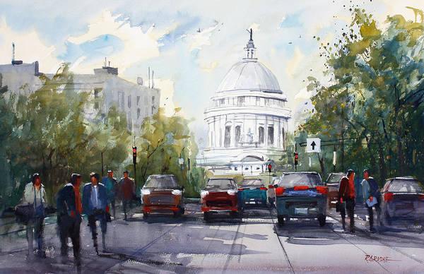 Wall Art - Painting - Madison - Capitol by Ryan Radke
