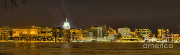 Madison - Wisconsin City  Panorama - No Fireworks Art Print