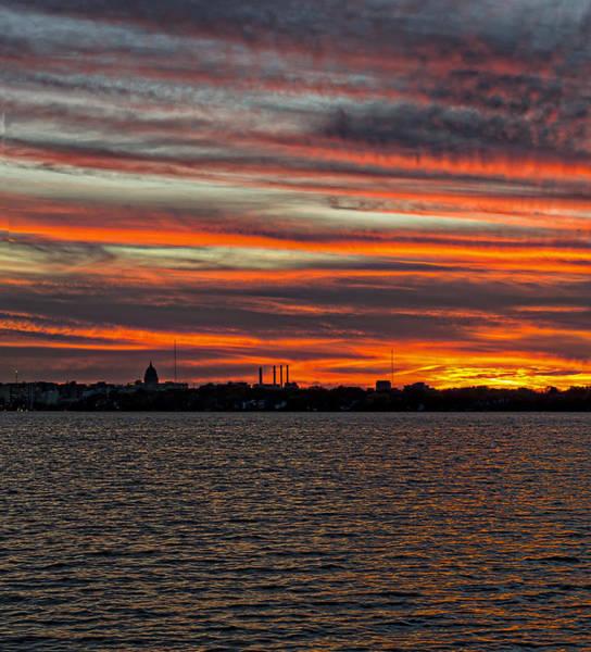 Photograph - Madison - Skyline Sunset by Steven Ralser
