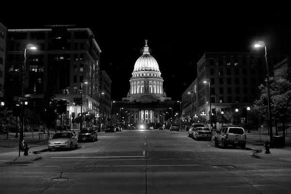 Photograph - Madison Wi Capitol Dome by Trever Miller