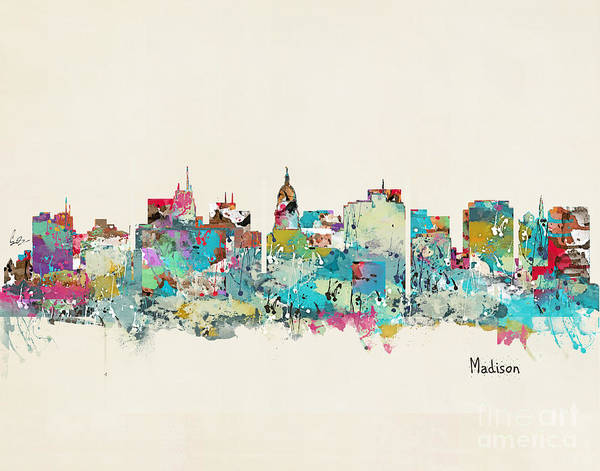 Wisconsin Wall Art - Painting - Madison Wisconsin Skyline by Bri Buckley